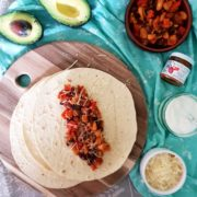 Baby Weaning Avocado, Red pepper and Tomato mixed bean tortillas recipe
