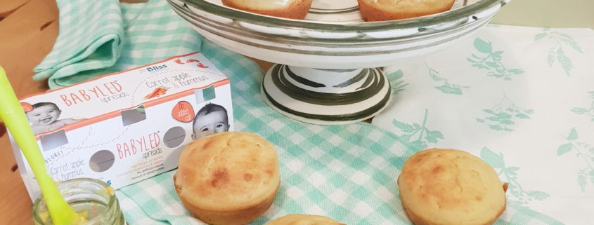 baby weaning Carrot, Apple and Hummus Savoury Cupcakes