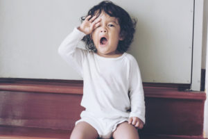 when a child becomes too tired to sleep