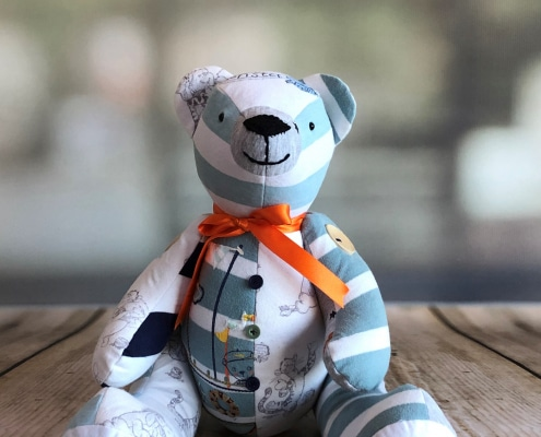 baby clothes keepsake bear